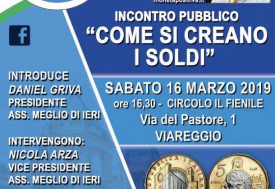 """SABATO 16 MARZO 2019 """"Come si Creano i Soldi"""" – Incontro Pubblico con FABIO CONDITI"""